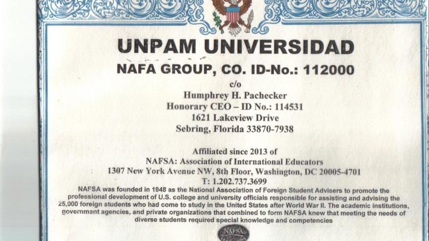 NAFA OCCUPATIONAL LICENSE 030